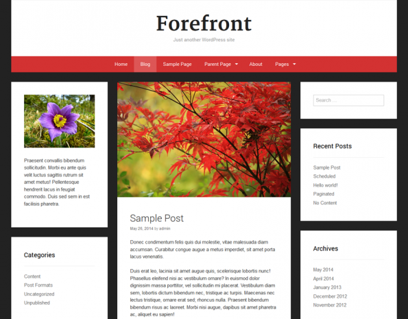 Responsive WordPress-Theme: Forefront. (Screenshot: Forefront)