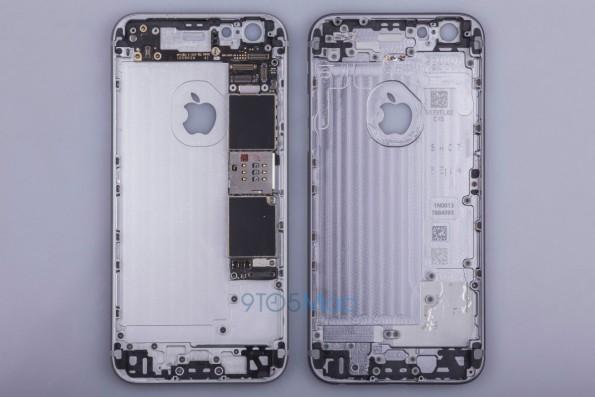 Ein geleaktes Foto der Unterseite des iPhone 6s zeigt, dass Apple die Bereiche um den Homebutton und die Lautstärkeregler verstärkt hat. (Foto: 9to5Mac)