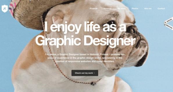 Ein Online-Portfolio sollte dem Besucher auf den ersten Blick zeigen, was ihn erwartet. (Foto: janne.me)