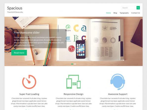 Spacious gehört zu den WordPress-Themes, die besonders aufgeräumt daher kommen. (Screenshot: Spacious)