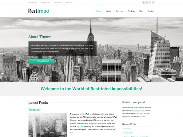 Das Theme RestImpo bietet unter anderem sechs vorgefertigte Farbschemata, 220 Schriftarten und Unterstützung für viele populäre Plugins. (Screenshot: RestImpo)