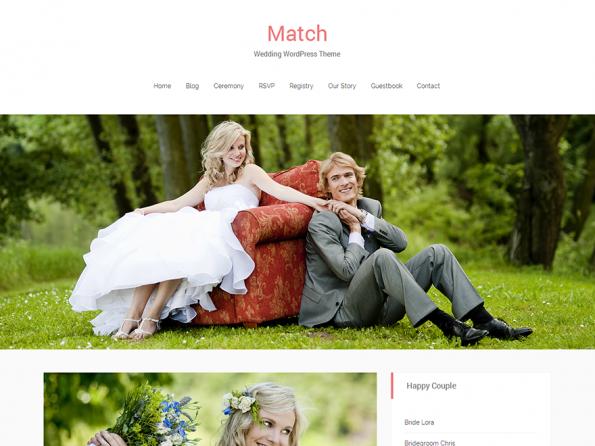 Schön für persönliche Webseiten: Das responsive WordPress-Theme Match. (Screenshot: Match)