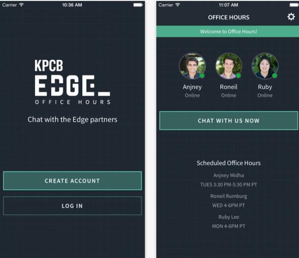 Diese App erlaubt Gründern, mit namhaften Investoren zu chatten. (Screenshot: BusinessInsider)