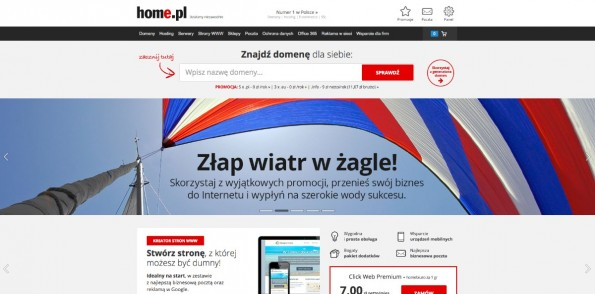 Startup-News: Die United Internet AG hat den polnischen Webhoster home.pl übernommen. (Screenshot: home.pl)