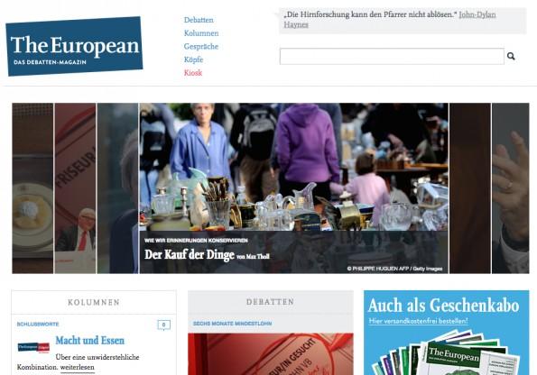 """Startup-News: Das Magazin """"The European"""" muss überraschend auf seinen Geldgeber verzichten und steht dadurch vor dem Aus."""