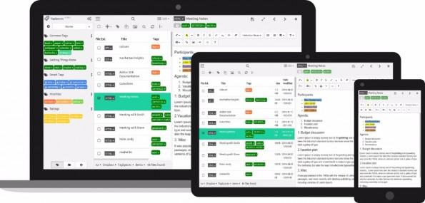 TagSpaces bietet etliche Möglichkeiten, Notizen zu filtern. (Grafik: TagSpaces)