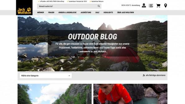 Gelungene Unternehmensblogs: Jack Wolfskin. (Screenshot: Jack Wolfskin)