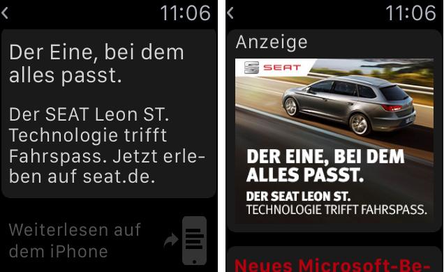 Funktioniert Werbung auf der Apple Watch? Seat beweist Mut zum Experiment