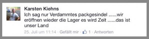 Hatespeech auf Facebook: Der Hass trägt einen Namen und hat ein Gesicht. (Screenshot: DWDL.de)