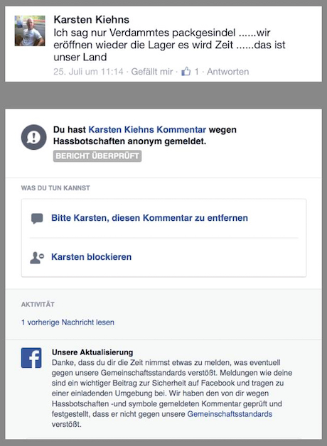 Wenn das nicht gegen die Community-Regeln verstößt, was dann? (Screenshot: DWDL.de)