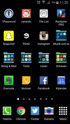 Der Homescreen von Thomas Schwenke. (Screenshot: Thomas Schwenke)