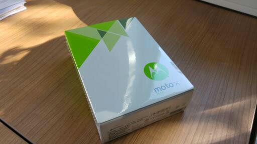 Das Moto X Play in Originalverpackung (Foto: Autor)