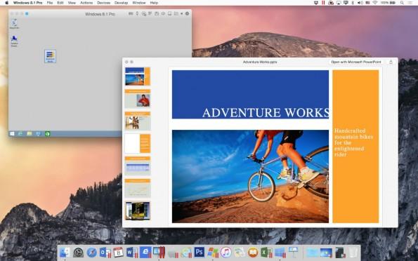 Parallels ermöglicht die Quick-Look-Funktion auch für Windows-Dokumente zu nutzen. (Screenshot: Parallels)