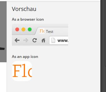 So sieht die Vorschau des Site-Icons aus. (Screenshot: Eigene WordPress-Installation)