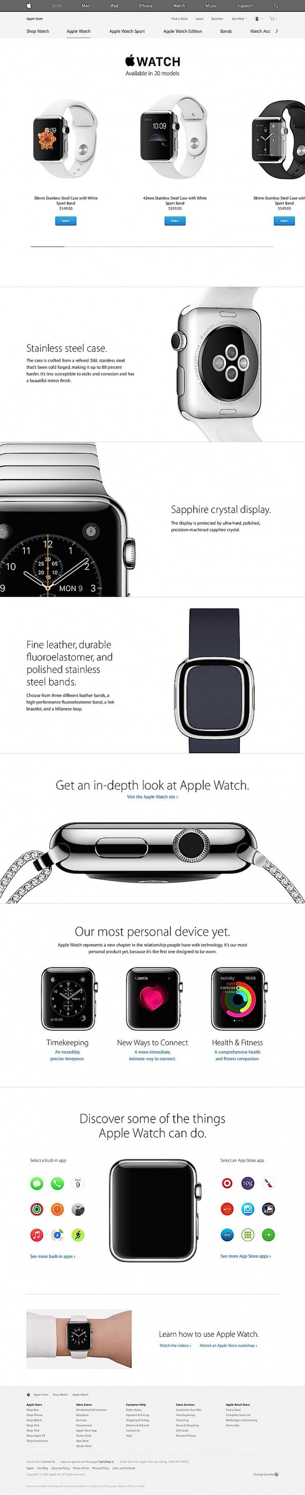 (Screenshots: apple.com)