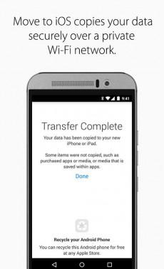 Apple-App migriert Daten von Android-Geräten auf iPhones. (Screenshot: Google)