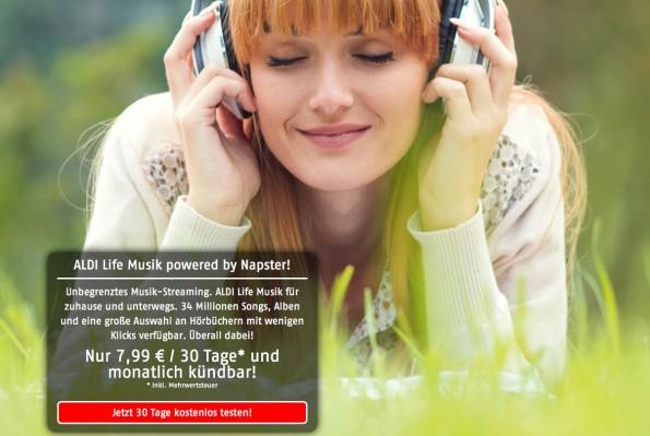 Aldi Life bietet 34 Millionen Songs und Hörbücher an (Screenshot: Aldi Life)
