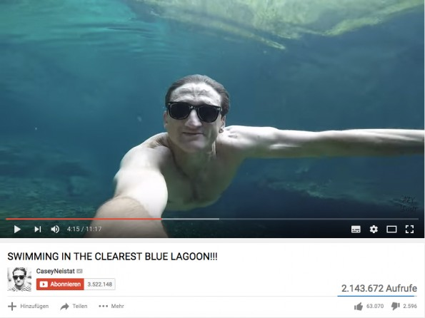 Der YouTuber Casey Neistat filmt jeden Tag aus seinem Leben. (Screenshot: YouTube)