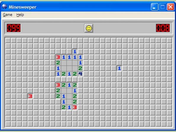 Mit Minesweeper hat man sich nicht selten auch die Zeit im Informatikunterricht vertrieben. (Screenshot: wikihow.com)