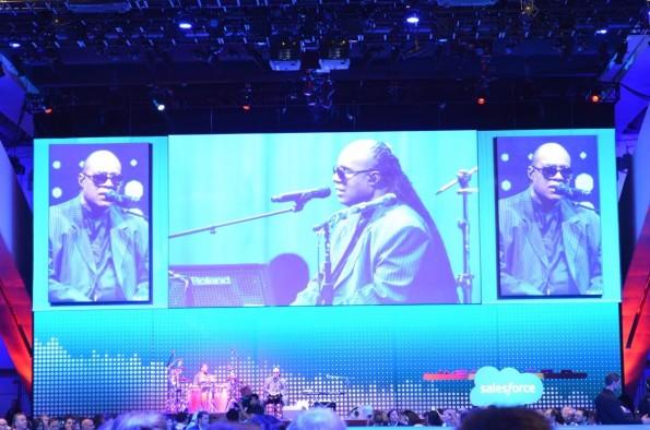 Auch die musikalischen Acts auf der Dreamforce waren ein Highlight, zum Beispiel mit Stevie Wonder.  (Foto: Diego Wyllie)