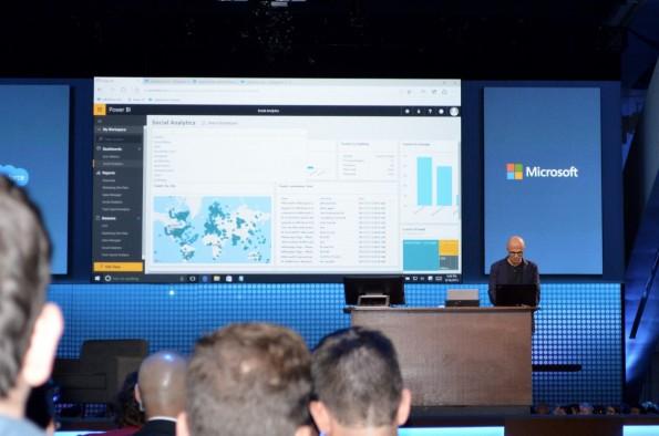 Auch Microsoft-CEO Satya Nadella sprach auf der Dreamforce. (Foto: Diego Wyllie)