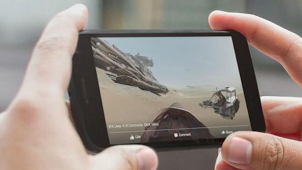 Auf Android kann das 360 Grad-Video durch Fingersteuerung bewegt werden. (Bild: Facebook)