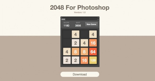 Games for Designers: 2048 for Photoshop (Screenshot: Games for Designers)