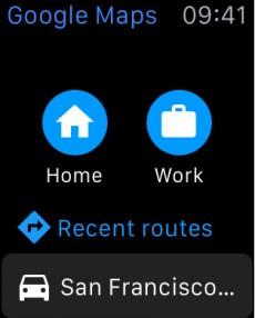 Google Maps für die Apple Watch. (Screenshot: iTunes)