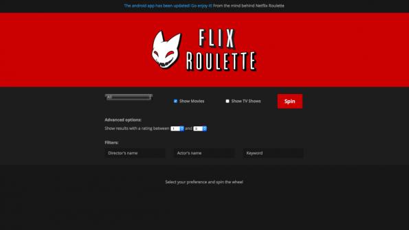 Komaglotzen nach dem Zufallsprinzip: Flix Roulette macht es möglich. (Screenshot: t3n)