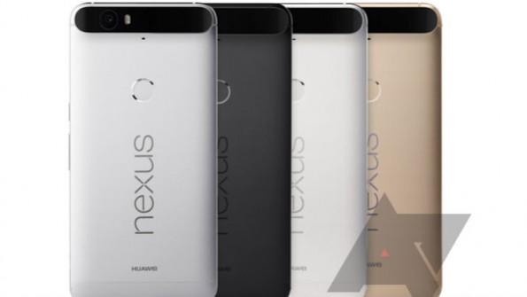 Das Nexus 6P wird in vier Farben erhältlich sein. (Bild: Android Police)