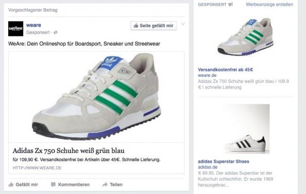 Die Werbung auf Facebook ist genau auf deine Interessen abgestimmt. (Screenshot: Facebook)
