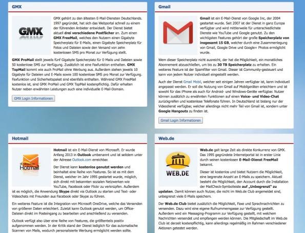 login-seite.de Startseite (Screenshot: login-seite.de)