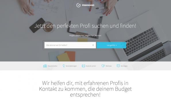 Pinnwand.io bietet einen lokalen Marktplatz für Dienstleistungen aller Art. (Screenshot: t3n)