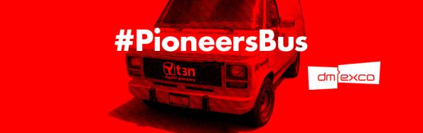 Am #PioneersBus könnt ihr uns treffen.