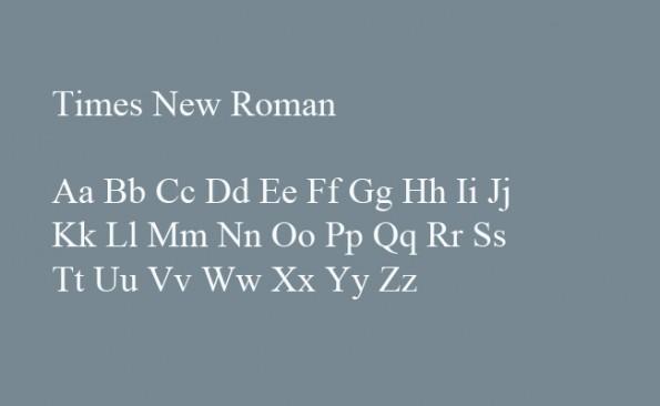 Die unbeliebtesten Schriftarten der Welt: Times New Roman. (Grafik: t3n.de)