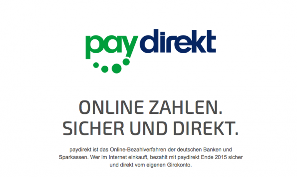 Screenshot: Paydirekt
