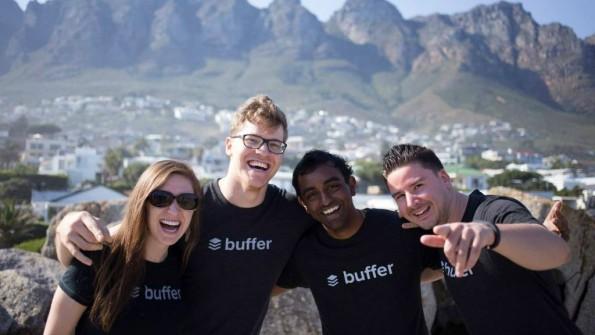 Die Buffer-Gründer Leo Widrich und Joel Gascoigne mussten zehn Mitarbeiter entlassen. Das Startup entwickelt eine Software zur Planung von Social-Media-Beiträgen. (Foto: Buffer)