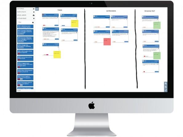 Cnverg: Das Online-Whiteboard bietet eine direkte GitHub-Integration. (Grafik: Cnverg)