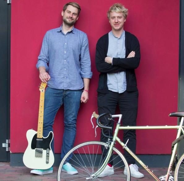 Bekommen als House-of-Startups-Bewohner ein Gründer-Coaching: Dirk Veit und Hilko Aikens, Gründer von ADDACT. (Foto: Andreas Tamme)