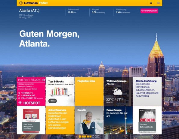 So soll das FlyNet-Portal mit Sobooks-Integration aussehen. (Screensot: Sobooks)