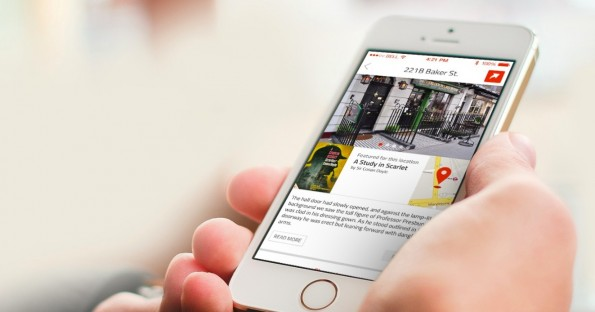 "Squirl – eine ""location-based book discovery app"". (Bild: Squirl)"