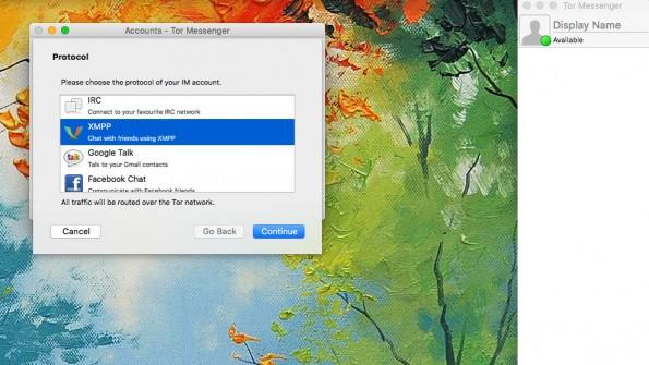 Der Tor-Messenger unterstützt verschiedene Protokolle und Dienste. (Screenshot: Tor-Messenger)
