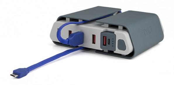 Tylt Energi verbindet USB-Ladestation und externen Akku. (Grafik: Indiegogo)
