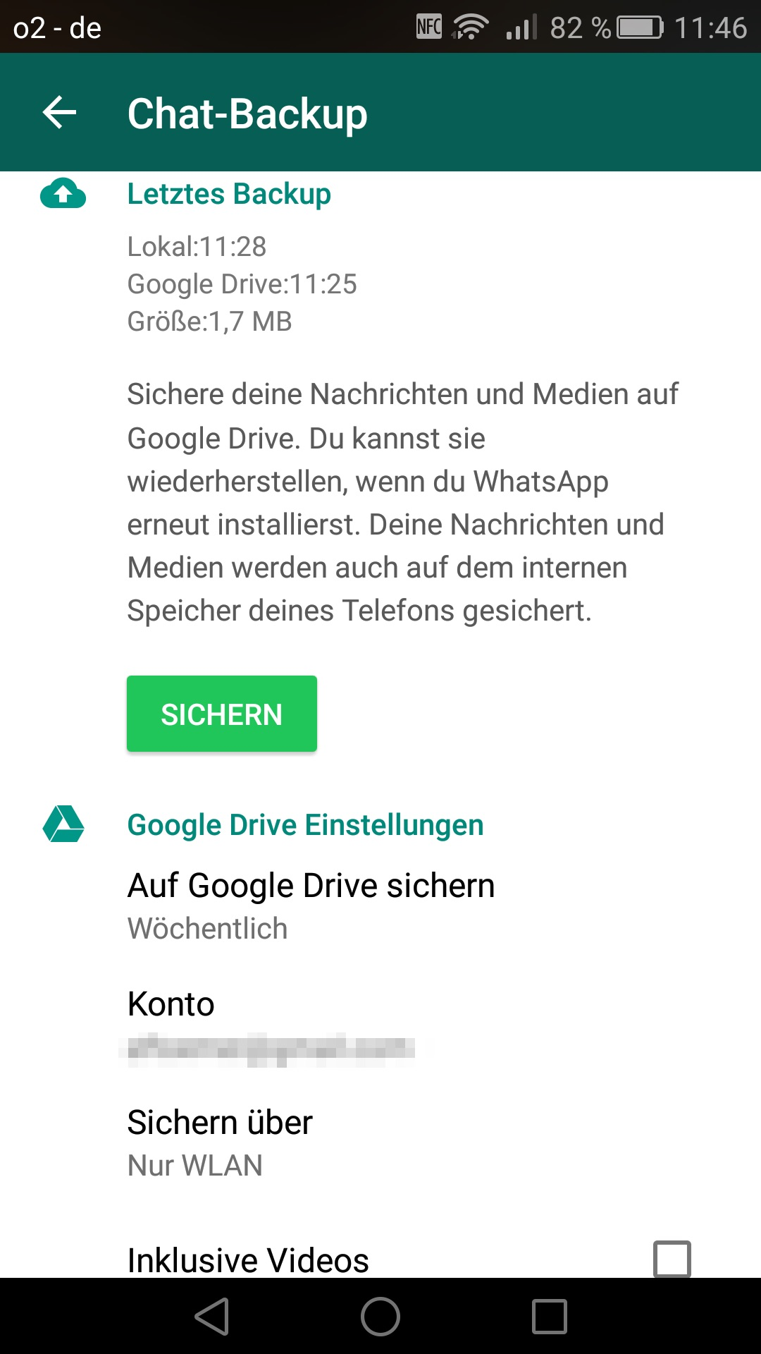 google drive android backup