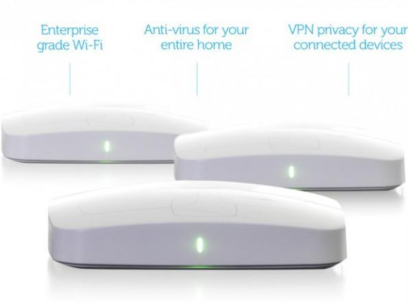 AVG will mit dem Chime-Router schnelles, sicheres WLAN ins Smart-Home bringen. (Bild: AVG/Indiegogo)