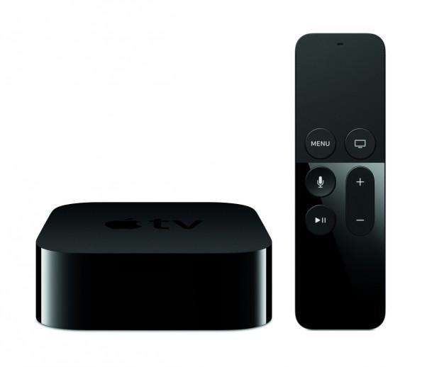 Apple TV bringt unter anderem eine Fernbedienung mit Touch sowie Siri-Unterstützung mit. (Bild: Apple)