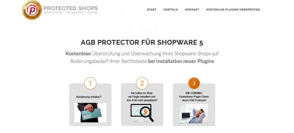 Screenshot: Protected Shops