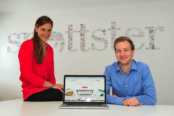 Spottster-Gründerin Freya Oehle und Mitgründer Tobias Kempkensteffen. (Foto: Presse/Patrick Sun)