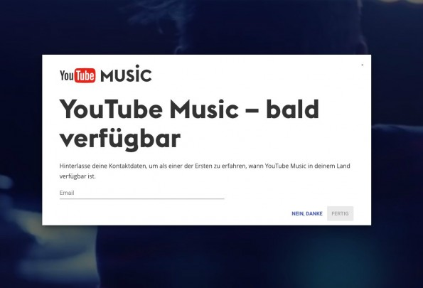 YouTube Music: Bald auch in Deutschland verfügbar? (Screenshot: YouTube/t3n)