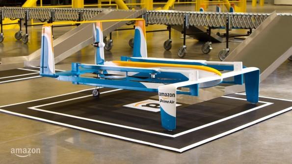 So sieht die neue Amazon-Prime Air-Drohne aus. (Bild: Amazon)